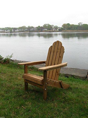 Cedar Adirondack Folding Outdoor Chair Wood Folds