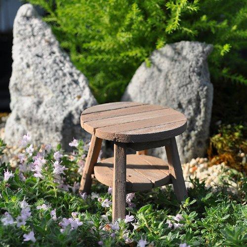 Fairy Garden - Miniature Adirondack Table - Weathered Wood
