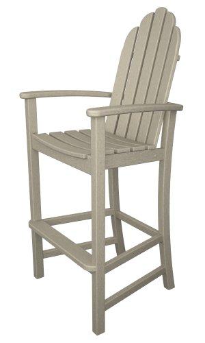 Polywood Adirondack Bar Height Chair Sand