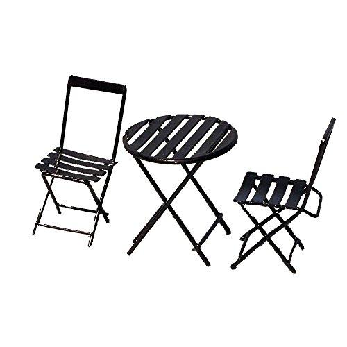 Provence BF3170 Iron Mini Fairy Garden Table Chair Set of 3 Bronze