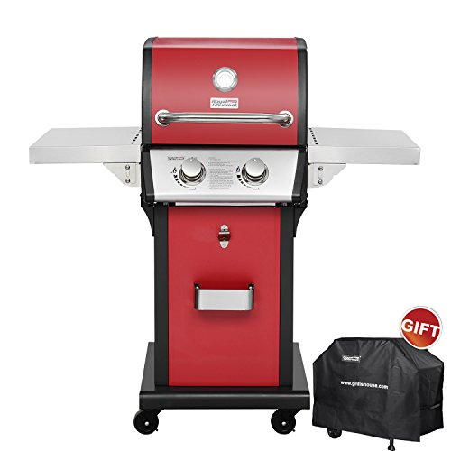 RoyalGourmet Patio Propane Gas Grill 2 Burner Red