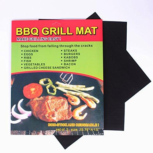 Super Marts Barbecue Grill Mat - 16×13 Inch  Set of 2