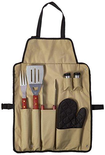 Chefs Kitchen 82-4308 7-piece Outdoor Bbq Apron And Utensil Set