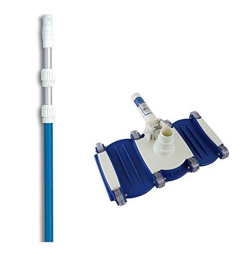 Hydrotools 8150 Swimming Pool Vacuum Cleaner Vac Head w 5-15 Telescopic Pole