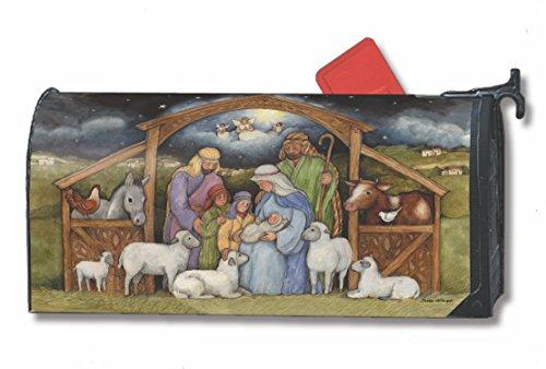 Holy Family Nativity Large Oversized Mailbox Cover Christmas Religious Manger