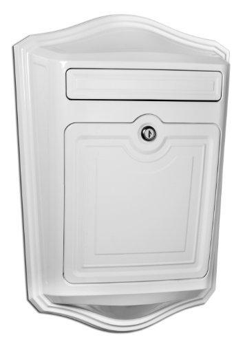 Architectural Mailboxes 2540w Maison Locking Wall Mount Mailbox White Model 2540w Outdooramp Hardware Store