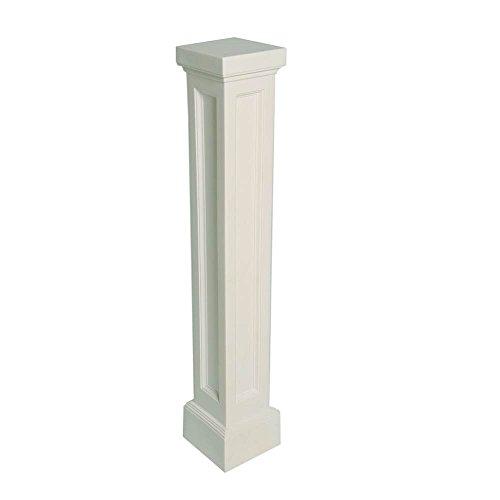 Bradford Pedestal Mailbox Post in White Finish