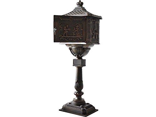 Mail Box Heavy Duty Mailbox Postal Box Security Cast Aluminum Vertical Pedestal bronze