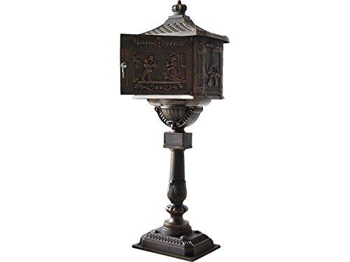 Tek Widget Heavy Duty Vertical Pedestal Postal Mailbox bronze