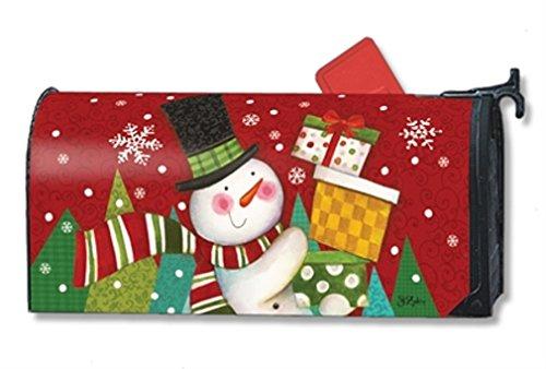 Mailwraps Happy Snowman Mailwrap Mailbox Cover 01396
