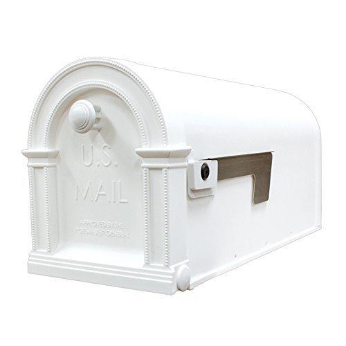 Gibraltar LM11000W Laurel Decorative Plastic Post Mount Mailbox Arctic White Model LM11000W Outdoor Hardware Store