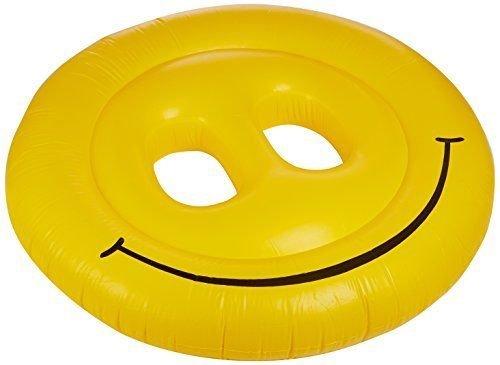 USA Warehouse Swimline 9053 Smiley Face 72 Fun Island Swimming Pool Float Lounger Beach Lake -PT HF983-1754387919