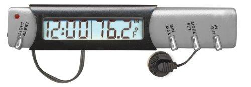 Custom Accessories 11059 IndoorOutdoor Thermometer Clock and Ice Alert