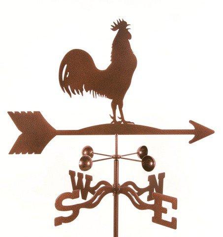 EZ Vane EZ1110-PT Rooster Bird Weathervane with Post Mount