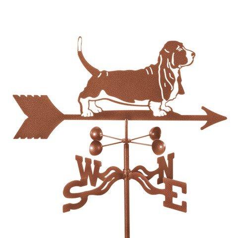 EZ Vane EZ1400-PT Dog Basset Hound Weathervane with Post Mount