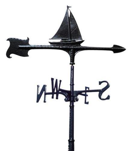 Whitehall Products Sailboat Weathervane 30-Inch Garden Black