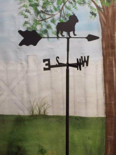 Bulldog Garden Style Weathervane Wrought Iron
