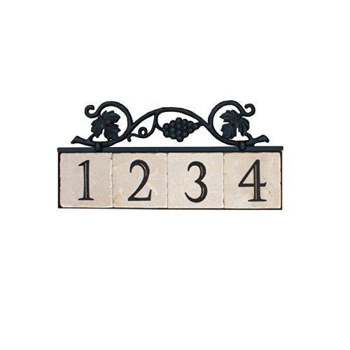 NACH KA-GRAPES-4 House AddressNumber Sign Plaque