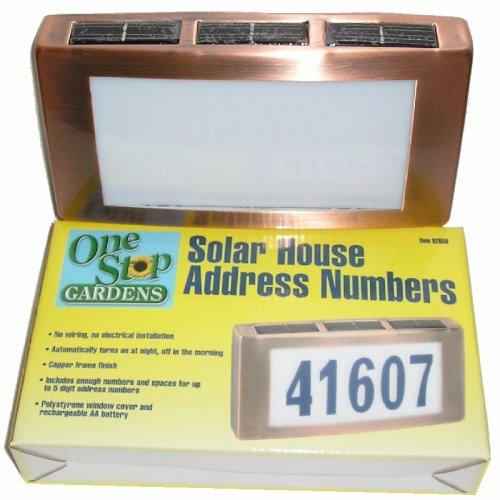 Solar House Address Number Light