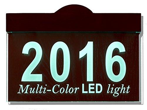 LED Lighted Address Plaque 16V AC Doorbell Transformer Version