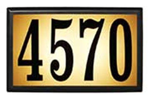 Qualarc Inc Bayside Estate Lighted Address Plaque LT6B-1310