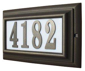 Qualarc Inc Edgewood Misty Oak Lighted Address Plaque Bronze Frame CMIST-1309-BZ