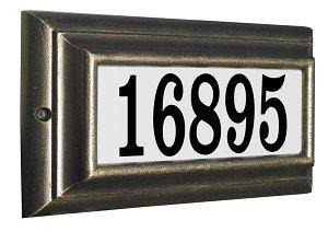 Qualarc Inc Edgewood Standard Lighted Address Plaque Oil Rub Bronze LTS-1300-ORB