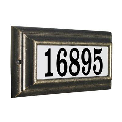 Qualarc Inc Edgewood Standard Lighted Address Plaque Pewter LTS-1300-PW