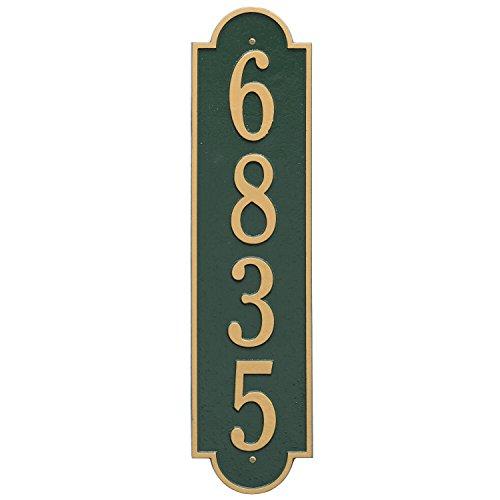 Richmond Vertical Address Plaque 6&quotwx25&quotl 1 Line