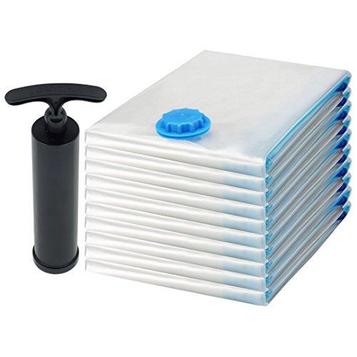 Felji Space Saver Bags Vacuum Seal Storage Bag Organizer Size Small 17x27 inches 10 Pack  Free Pump