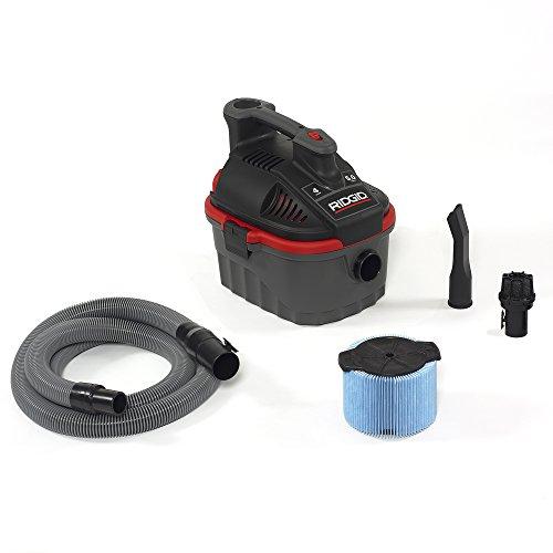 RIDGID 50313 4000RV Portable Wet Dry Vacuum 4-Gallon Small Wet Dry Vac with 50 Peak HP Motor Pro Hose Ergonomic Handle Cord Wrap Blower Port