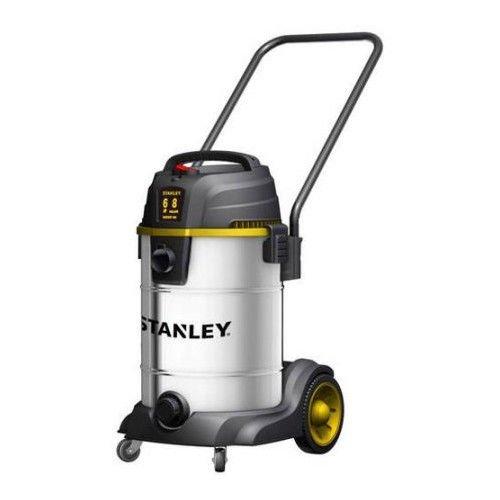 Stanley SL18402-8B 60 Peak HP 8 Gallon SS Wet Dry Vac with Wheels Heavy Dolly