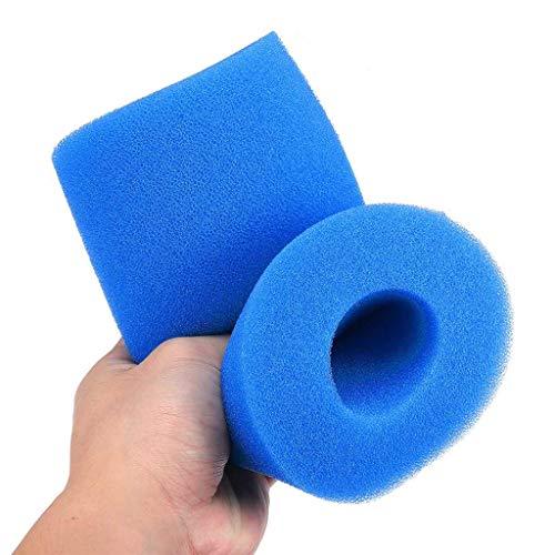Poniu Magic Foam Filter Washable Sponge Foam Cartridge Hot Tub Filter Vacuum Foam Filter Replacement Soft Reusable Suitable Swimming Pool
