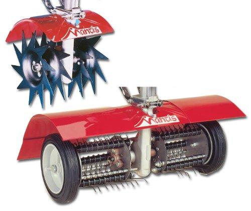 Mantis 7321 Power Tiller Aeratordethatcher Combo Attachment For Gardening