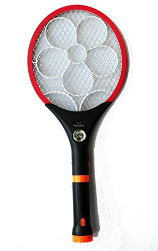 Electric LED Bug Fly Mosquito Zapper Swatter Killer Control with Built-in Rechargeable Batteries - 2400 Volts Color may Vary