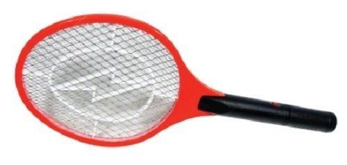 Handheld Bug Zapper Tennis Racket Electronic Flyswatter 1500v Takes 2 D Cells