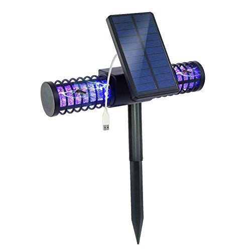 Battop Solar Led Mosquito Killer Lamp Bug Zapper Light