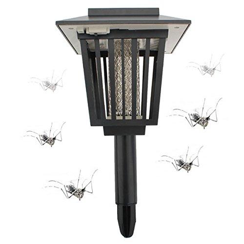 Solar Powered MosquitoPest Zapper Lantern LED Lamp Light