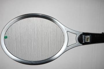 Bug Warrior Supreme Silver 4000v Fly Swatter Mosquito Gnats Zapper Racket Killer Most Power You Can Get In A Bug