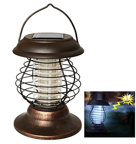 Agptek Indoor Outdoor Wireless Solar Power Mosquito Killer Uv Lamp Insect Pest Bug Zapper Sensor Light For Camping