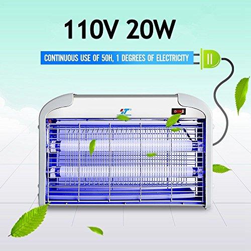 110V 20W Indoor Electric UV Mosquito Fly Killer Bug Zapper Pest Light Catcher