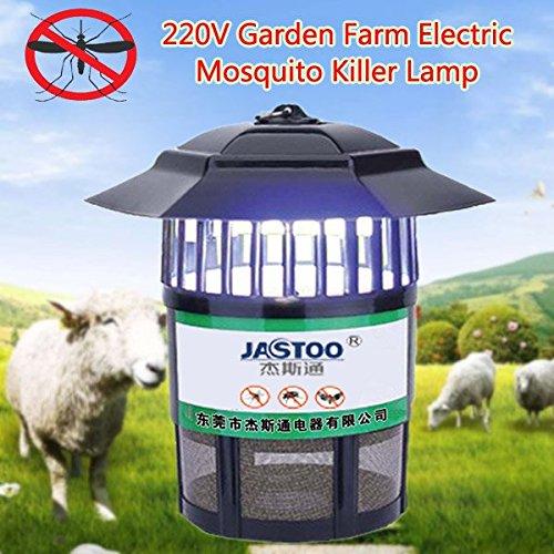 KAMOLTECH 220V 15W Electric UV Mosquito Killer Lamp Garden Farm Anti-mosquito Trap Pest Control Tool