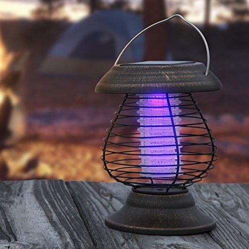 Wakeman Outdoors Solar Power UV Mosquito Killer Zapper LED Lantern