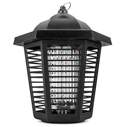 Sandalwood Electric Bug Zapper - Water Resistant Indoor And Outdoor Lantern Withfrac12 Acre Range For Flies Gnats