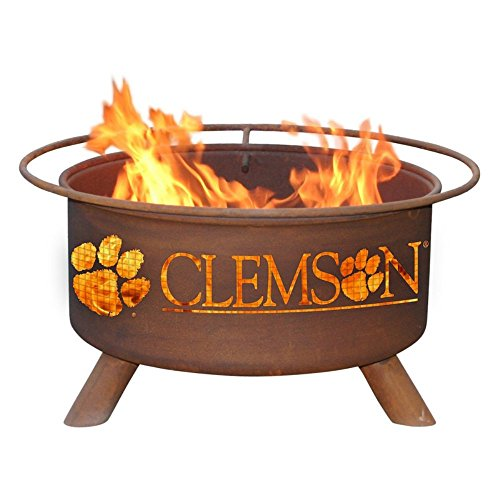 Patina 31 in College Fire Pit with Grill and FREE Cover