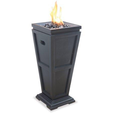 UniFlame LP Gas Fire Pit Column Medium Stainless steel burner