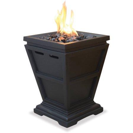 UniFlame LP Gas Fire Pit Tabletop Column ColorGray