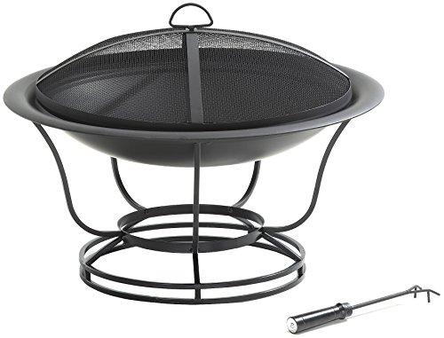 Crosley Furniture Buckner Outdoor Fire Pit with Steel Mesh Lid - Black