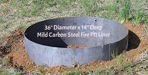 Steel Fire Pit Liner-insert Campfire Ring- 36&quot Diameter X 14&quot Deep