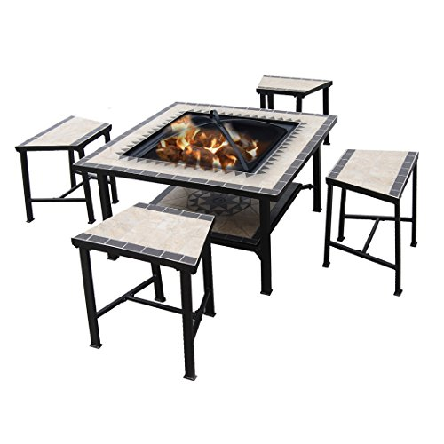 Serengeti Sunrise 5 Piece Fire Pit Seating Group